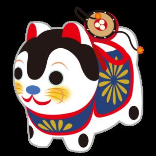 縁起物_張子犬_でんでん太鼓