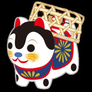 縁起物_張子犬_籠かぶり