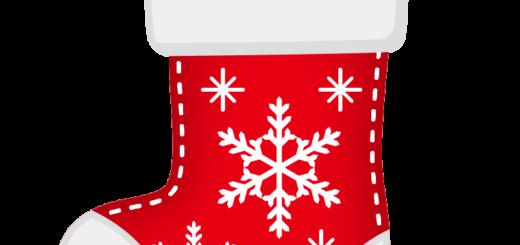 クリスマス_ソックス_赤白_雪結晶
