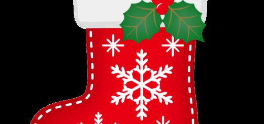 クリスマス_ソックス_赤_雪結晶_ひいらぎ
