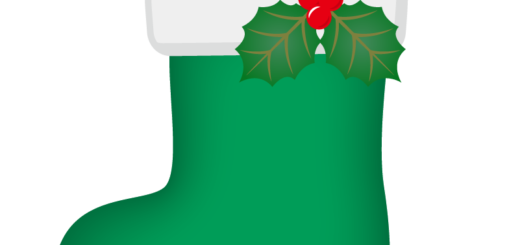 クリスマス_ソックス_緑_ひいらぎ