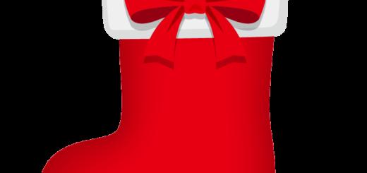 クリスマス_ソックス_赤_リボン