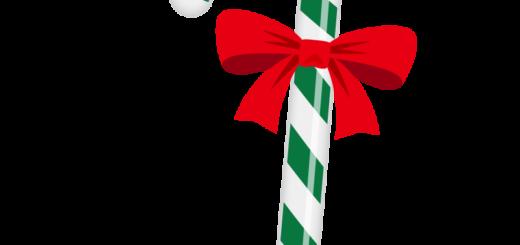 クリスマス_キャンディ_緑白_リボン