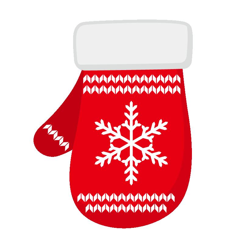 クリスマス_ミトン_赤白
