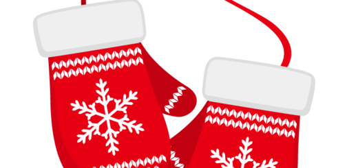 クリスマス_ミトン_赤白_2つ