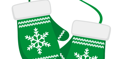 クリスマス_ミトン_緑白_2つ