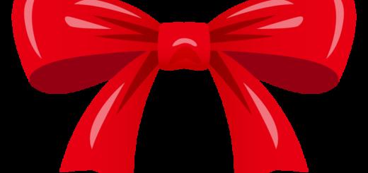 クリスマス_リボン_赤