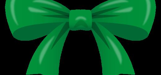 クリスマス_リボン_緑