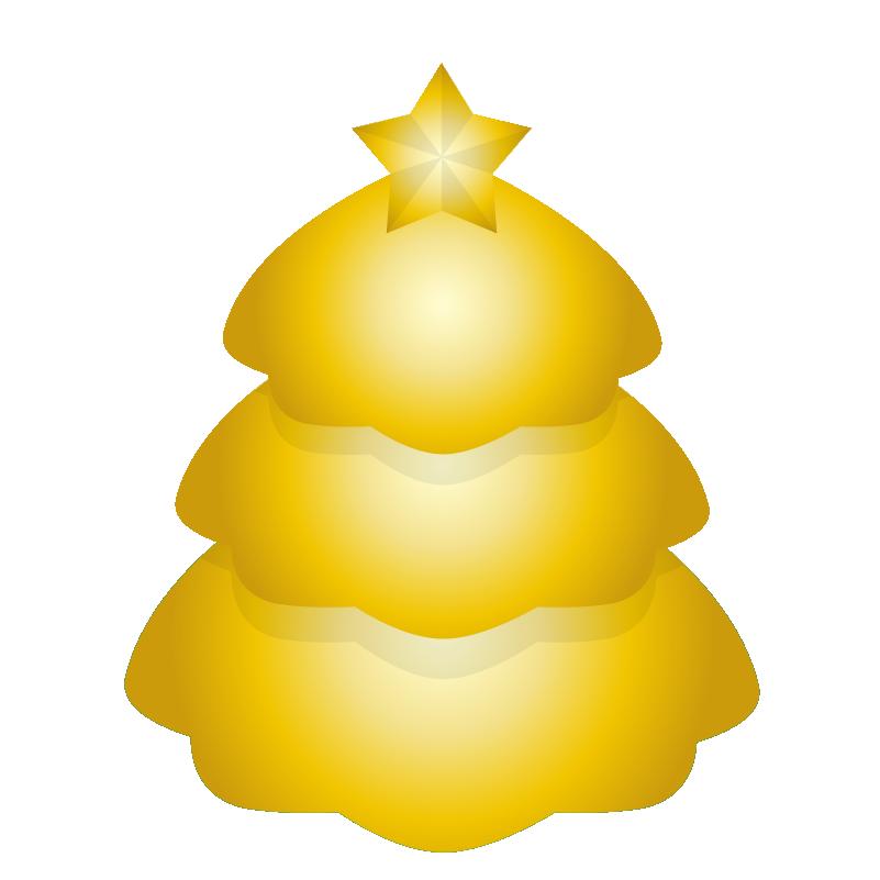クリスマスツリー_ゴールド