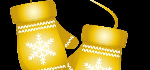 クリスマス_ミトン_ゴールド_2つ