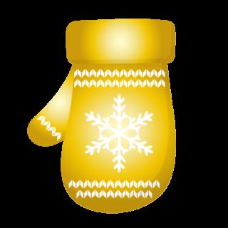 クリスマス_ミトン_ゴールド