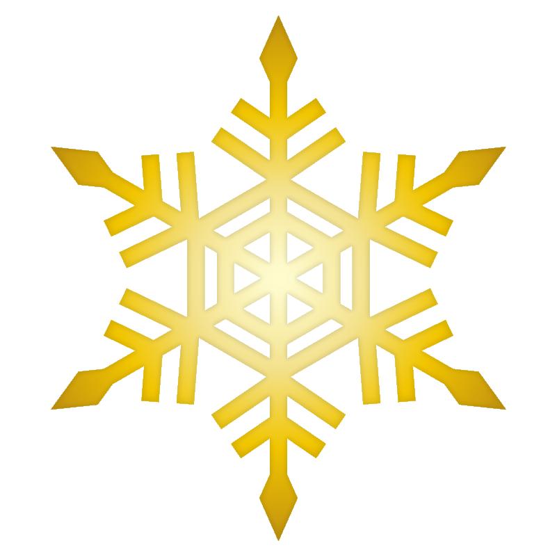 クリスマス_雪03_ゴールド