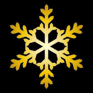 クリスマス_雪07_ゴールド