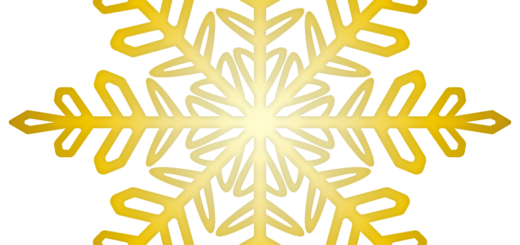 クリスマス_雪08_ゴールド