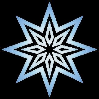 クリスマス_雪01_ブルー