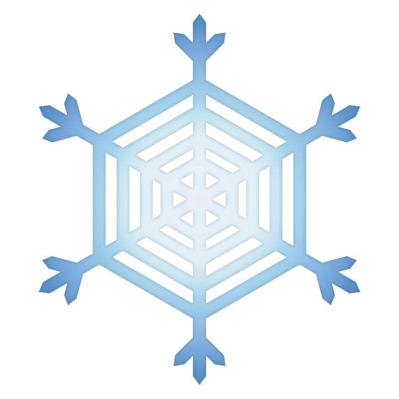 クリスマス_雪06_ブルー