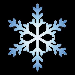 クリスマス_雪07_ブルー