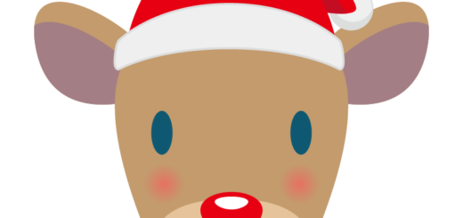クリスマス_トナカイ_サンタ帽