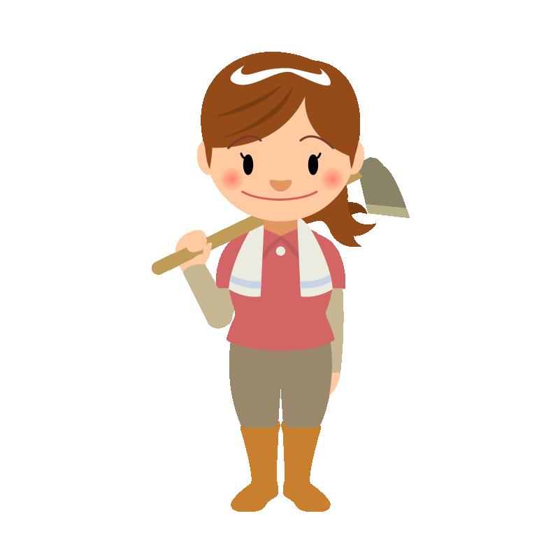 農業若い女性