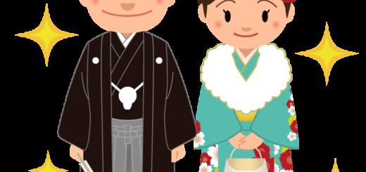 成人式_男女_紋付袴_緑着物