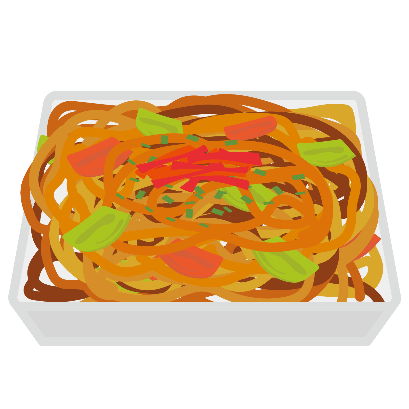 イラスト_おお祭り_焼きそば_食べ物_夏