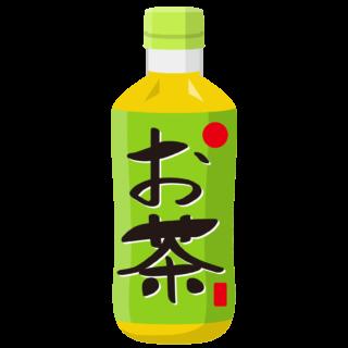 イラスト_食べ物_お茶_ペットボトル