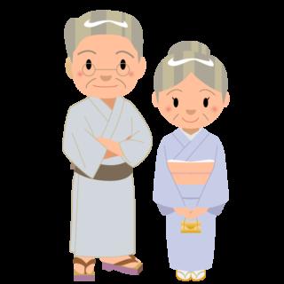 イラスト_浴衣_着物_夏_祭り_家族_おじいちゃん_おばあちゃん
