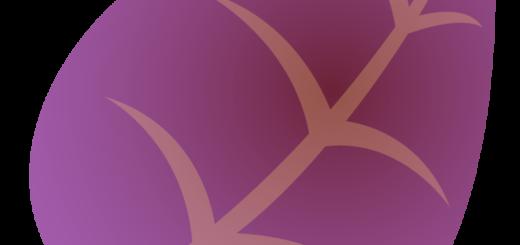 商用フリーイラスト_秋_落ち葉_枯葉_紫色_Fallen leaves