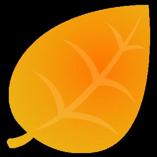 商用フリーイラスト_秋_落ち葉_枯葉_黄色_Fallen leaves