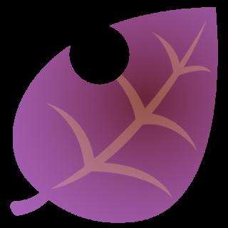 商用フリーイラスト_秋_落ち葉_枯葉__虫食い_紫色_Fallen leaves