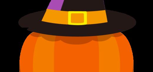 商用フリーイラスト_無料_10月_ハロウィンかぼちゃ_ランタン_帽子2_halloween
