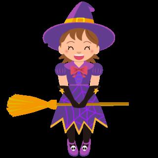 商用フリーイラスト_無料_10月_ハロウィン_女の子_魔女_コスプレ_halloween_witch