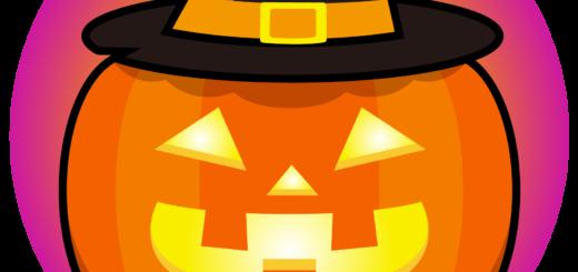 商用フリーイラスト_無料_10月_ハロウィン_かぼちゃ_ジャックオーランタン頭_コスプレ_halloween_オーナメント赤