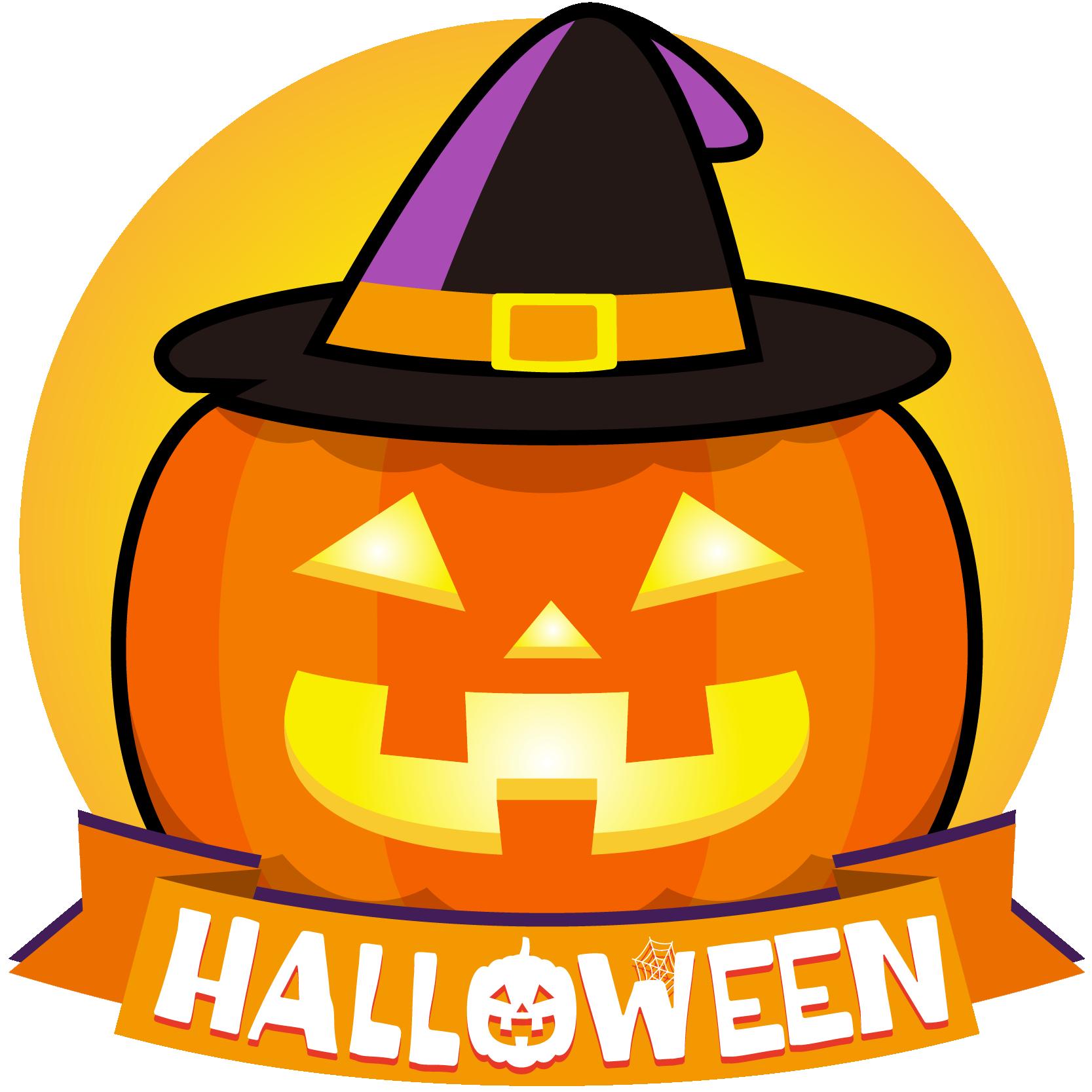 商用フリーイラスト_無料_10月_ハロウィン_かぼちゃ_ジャックオーランタン頭_コスプレ_halloween_オーナメントオレンジ
