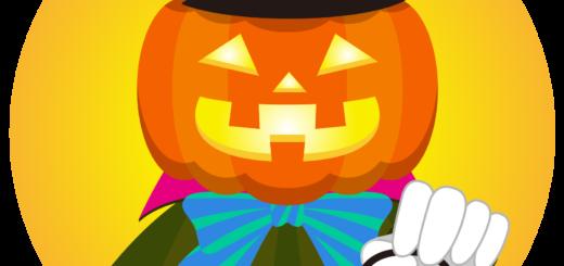 商用フリーイラスト_無料_10月_ハロウィン_かぼちゃ_ジャックオーランタン_コスプレ_halloween_オーナメントオレンジ