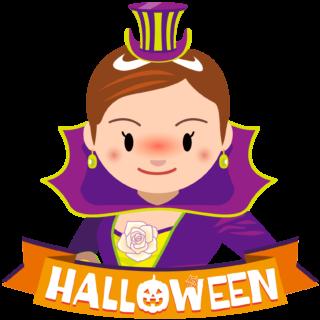 商用フリーイラスト_無料_10月_ハロウィン_魔女_コスプレ_halloween_witch_オーナメント