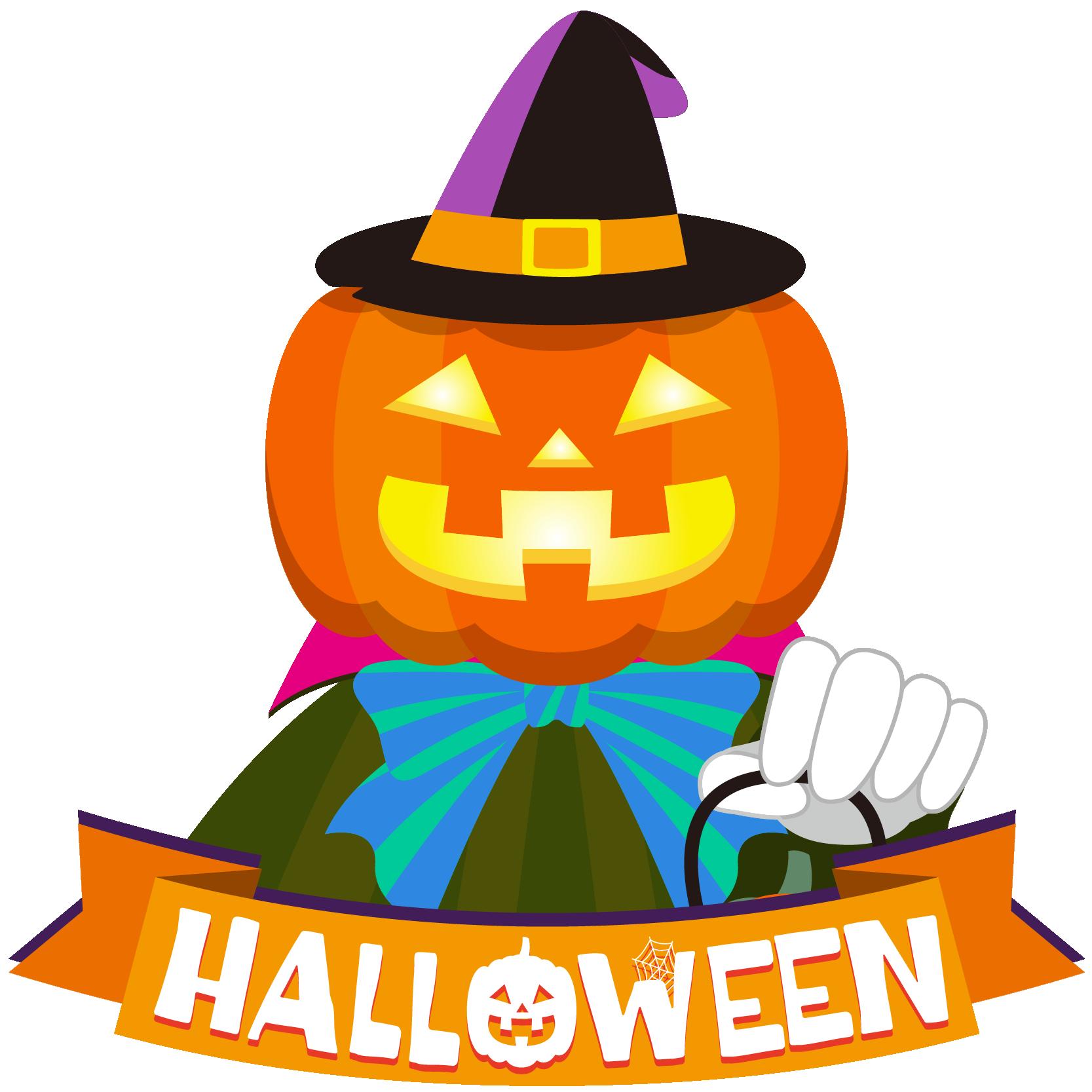 商用フリーイラスト_無料_10月_ハロウィン_かぼちゃ_ジャックオーランタン_コスプレ_halloween_オーナメント
