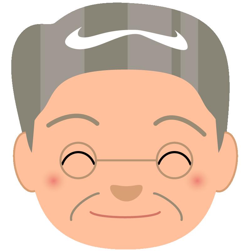 商用フリー_無料イラスト_敬老の日_おじいちゃん顔
