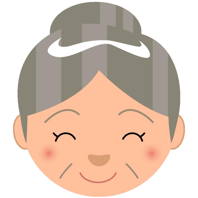 商用フリー_無料イラスト_敬老の日_おばあちゃん顔