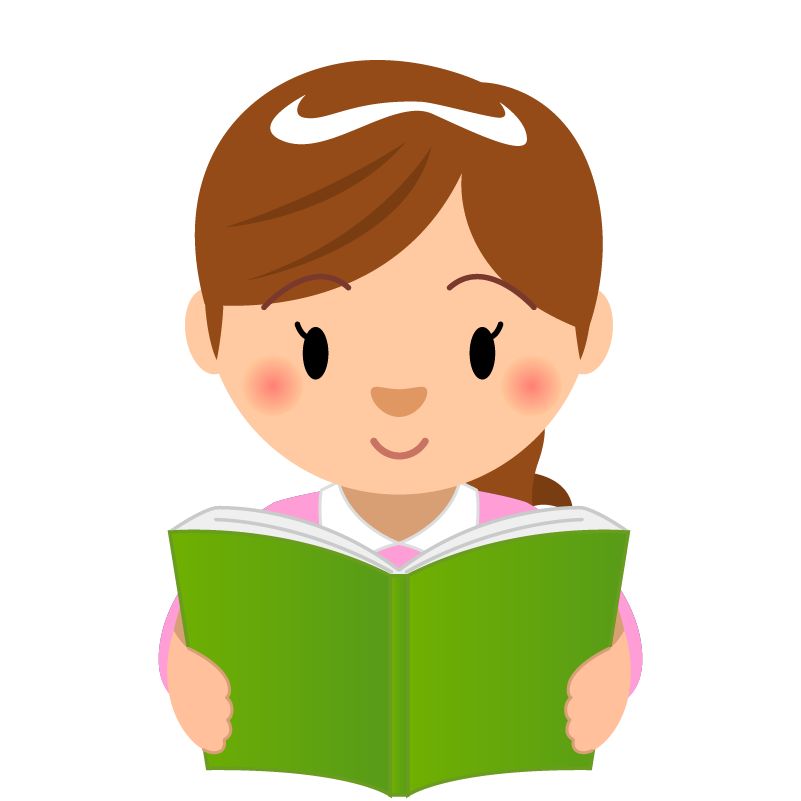 商用フリーイラスト_読書_女性_Reading Book