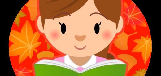 商用フリーイラスト_読書_女性_Reading Book_秋
