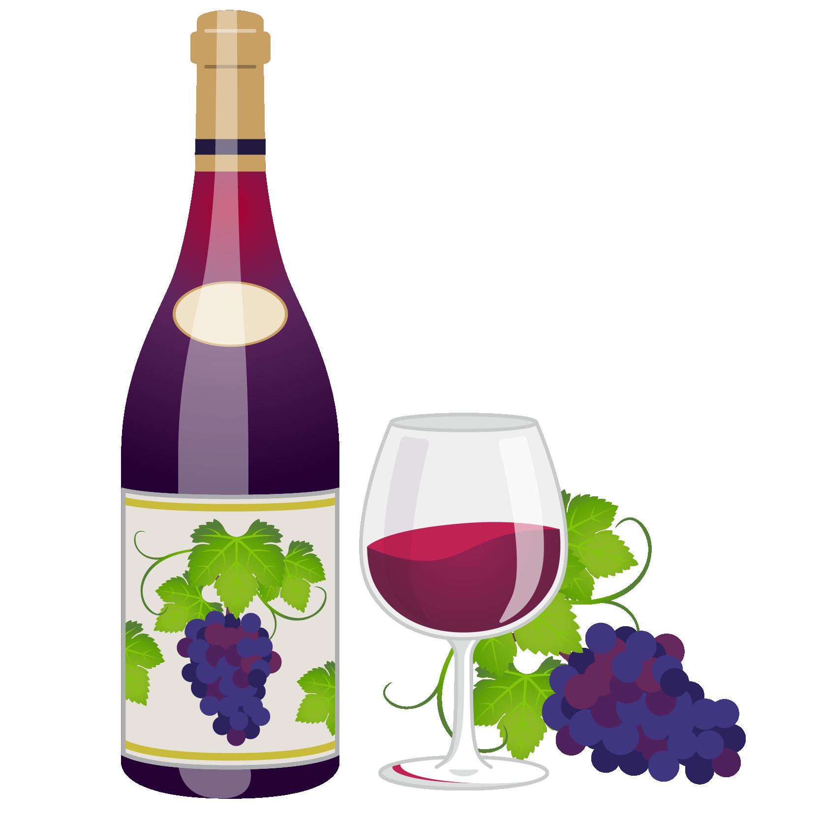 商用フリーイラスト_11月_ボジョレーヌーボー_ワイン_赤_ボトル&グラス01_Beaujolais Nouveau