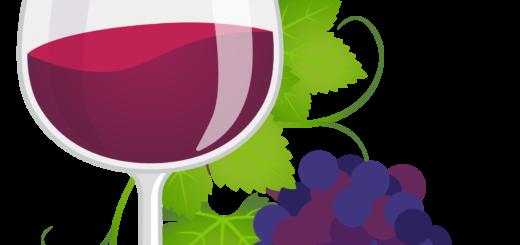 商用フリーイラスト_11月_ボジョレーヌーボー_ワイン_赤_グラス&ぶどう01_Beaujolais Nouveau