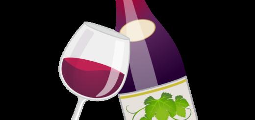 商用フリーイラスト_11月_ボジョレーヌーボー_ワイン_赤_ボトル&グラス02反転_Beaujolais Nouveau