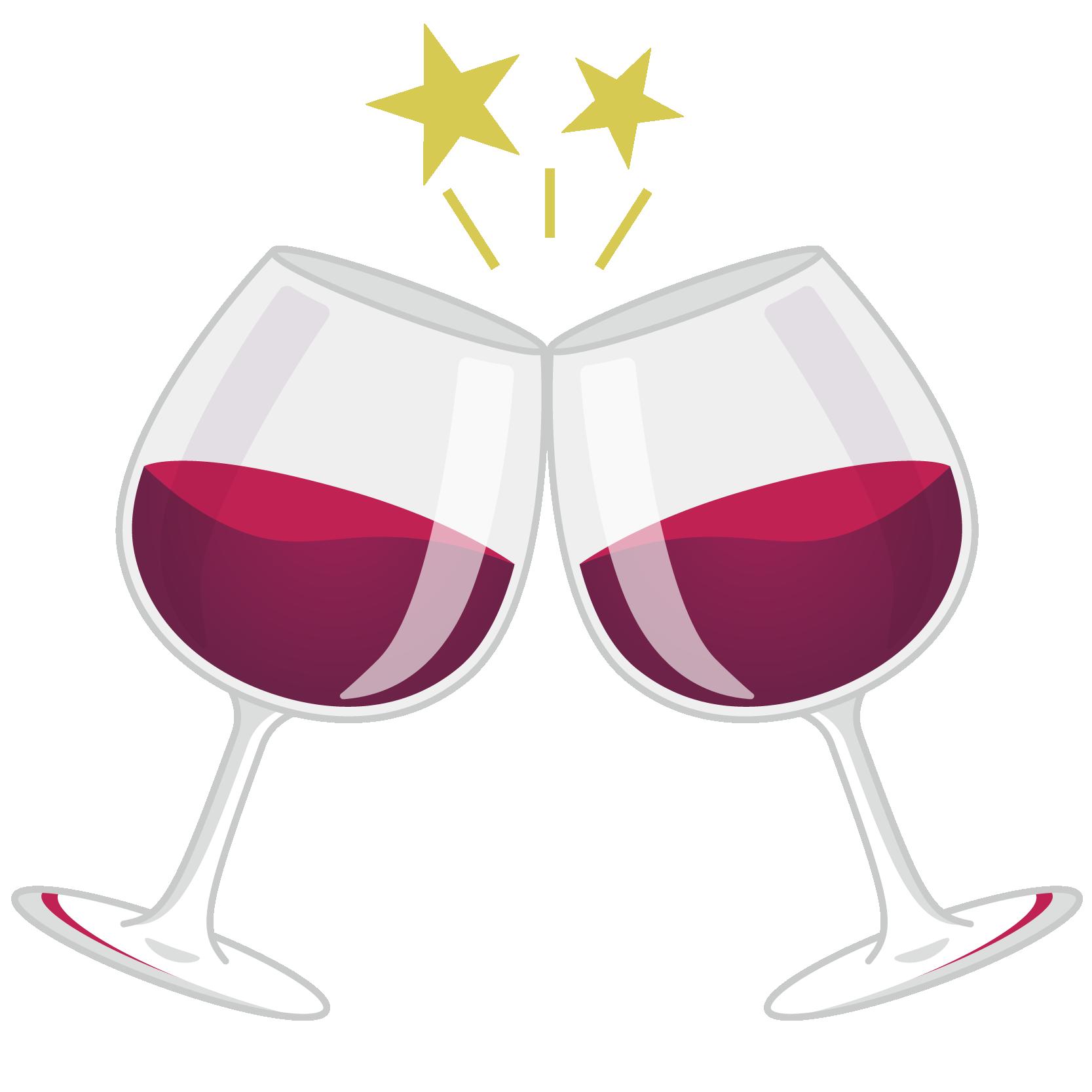商用フリーイラスト_11月_ボジョレーヌーボー_ワイン_赤_グラス_乾杯_Beaujolais Nouveau