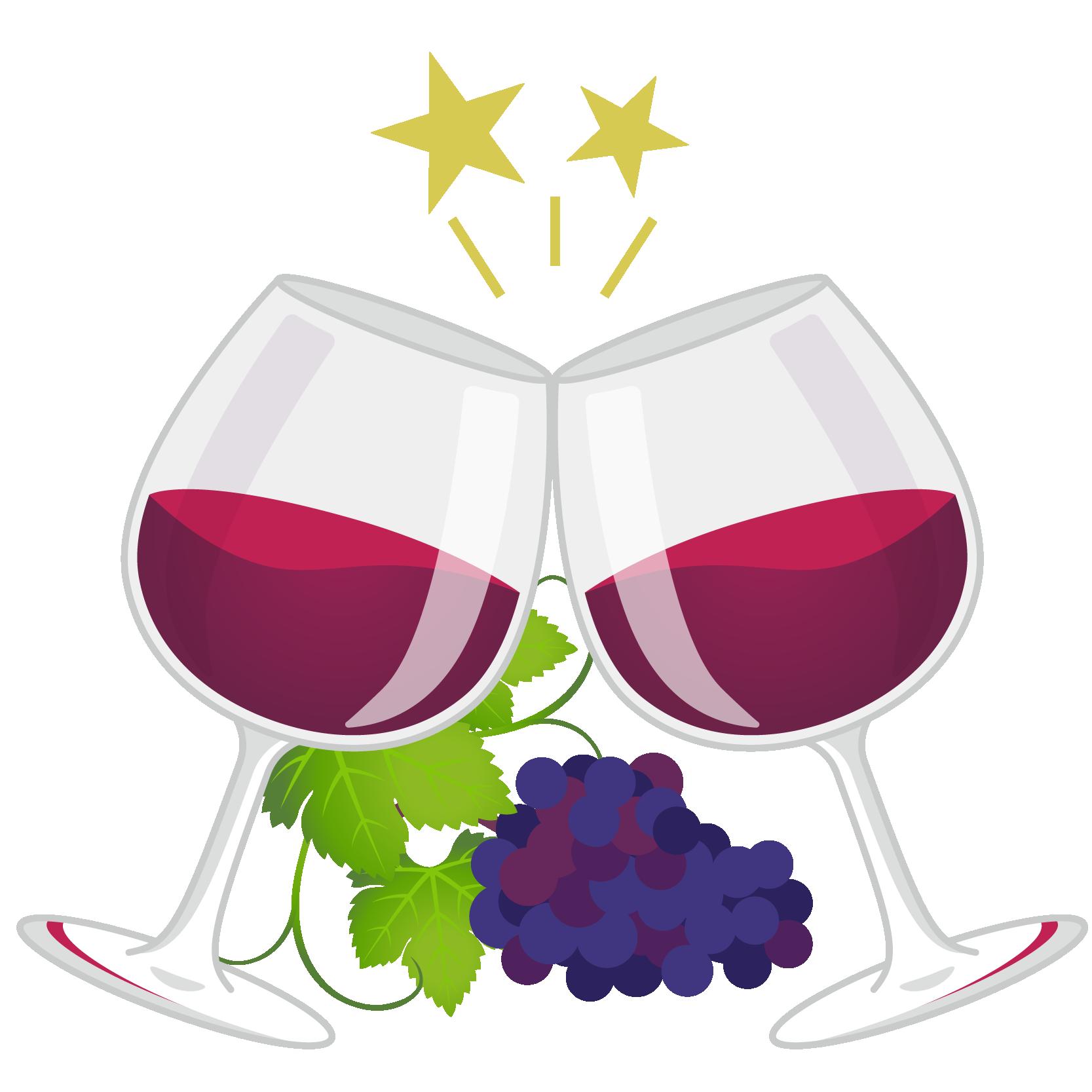 商用フリーイラスト_11月_ボジョレーヌーボー_ワイン_赤_グラス_乾杯_ぶどう_Beaujolais Nouveau