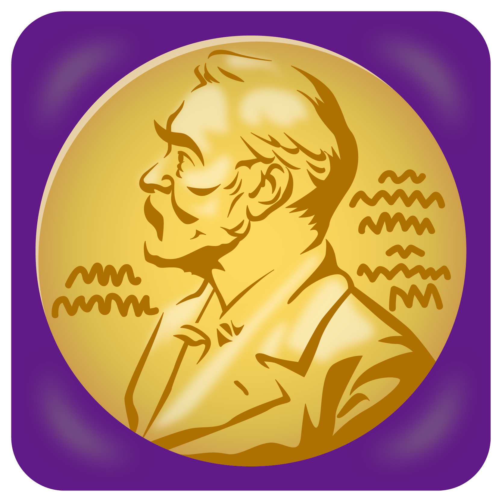商用フリーイラスト_ノーベル賞_メダル_紫ケース