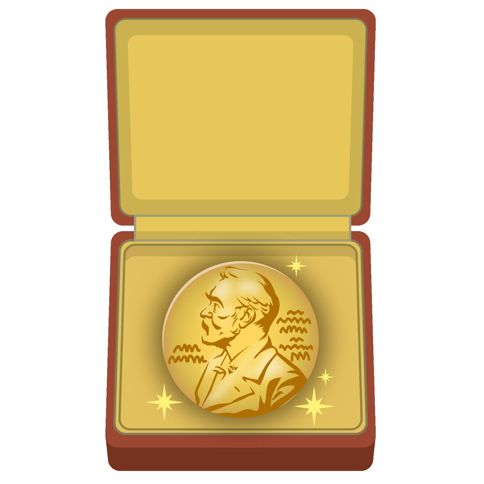 商用フリーイラスト_ノーベル賞_メダル_ケース