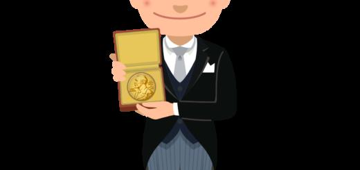商用フリーイラスト_表彰_燕尾服_男性B_ノーベル賞_メダル