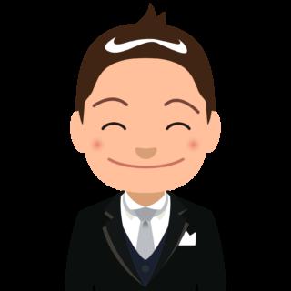 商用フリーイラスト_表彰_燕尾服_男性B笑顔_バストアップ